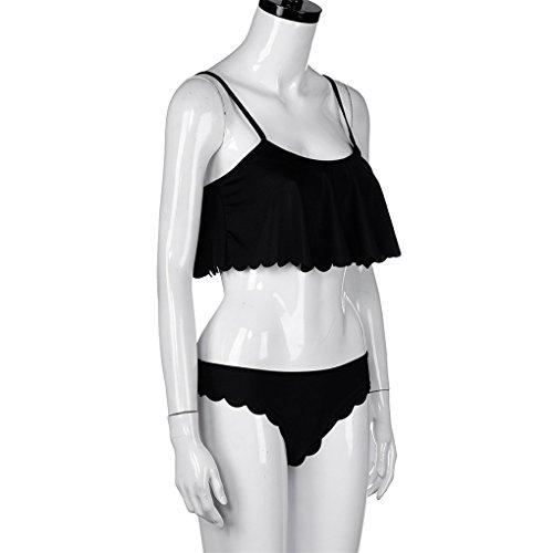 Estate Bagno up Donne Womens Set Swimsuit Da Costume Italily Nero Monochrome Bikini Push Del 6q7wnEF