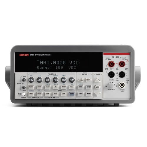 Keithley 2100  100 Digital Multimeter Set To 100V  6 1 2 Digit