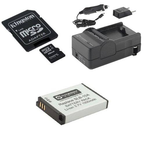 Samsung WB350F Digital Camera Accessory Kit includes: SDSLB10A Battery, SDM-1501 Charger, SDC4/16GB Memory Card