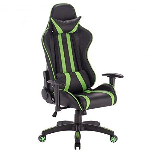 41 zDvQRJjL - MD-Group-Gaming-Chair-High-Back-Reclining-Racing-Style-Green-PVC-Scratch-resistant-360-Swivel