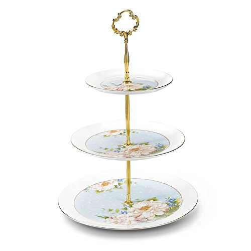 - Panbado 3 Tier Cake Stand Tower, Bone China 6