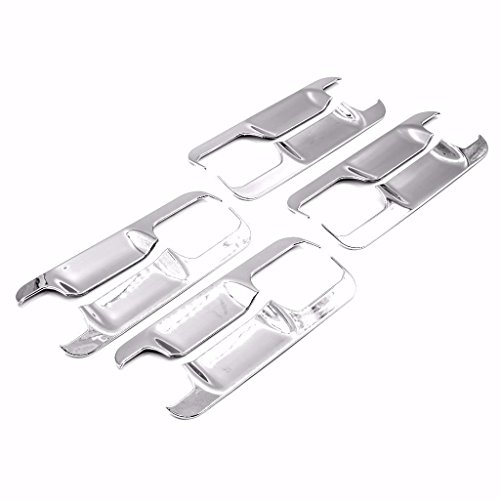 (erushautoparts Ultra Chrome Door Handle Bowls Covers for 2015-2017 Ford F150)