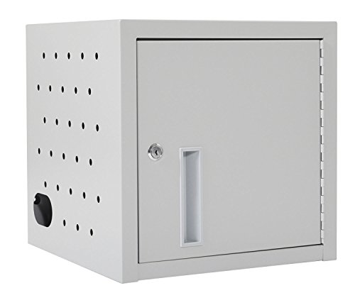 LUXOR LLTMW8-G Wall/Desk Tablet Charging Station, Gray