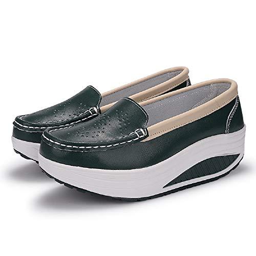 con Zapatillas de de Verde Rocker Azul Transpirables Qiusa Informal tamaño Mujer 38 Deporte Color EU Plataforma de Zapatillas 05xqR