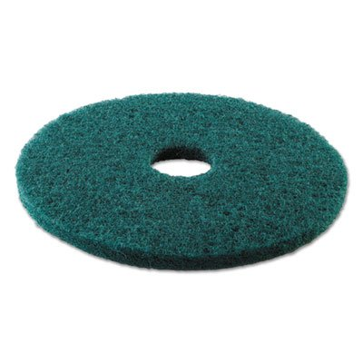 Boardwalk BWK4013GRE Standard Heavy-Duty Scrubbing Floor Pads, 13