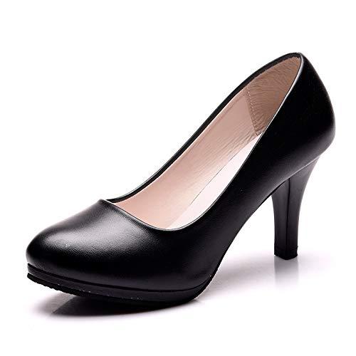 G 35 EU FLYRCX Talons Aiguilles tête Ronde Simples et Confortables Chaussures de Travail de la Bouche Peu Profonde tempéraHommest élégant Chaussures Simples Les Les dames