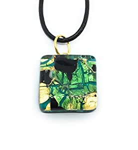 Lámpara de techo de cristal Murano - Millefiori a presión dorado, 2 cm x 2 cm en caja regalo - (Diana LME)