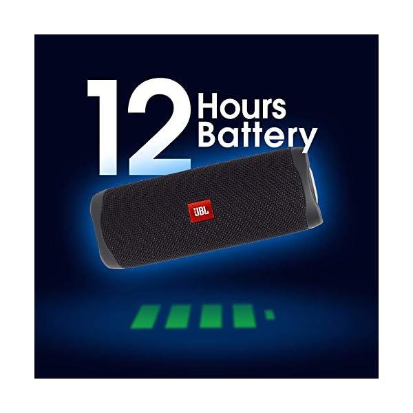 JBL Flip 5 Enceinte Bluetooth Portable avec Batterie Rechargeable, Étanche, Compatible Siri et Google, Noir 3