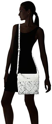 Tamaris Khema Crossbody Bag - Bolso de hombro Mujer Weiß (white Comb)