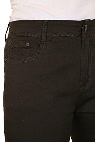 Croise Ice Jeans Dtail Marron Jambe Extensible Diamant Capri avec wrtzr