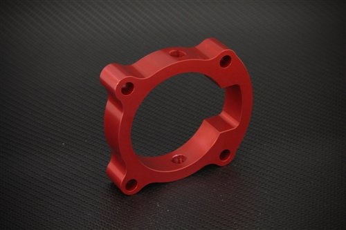 Torque Solution TS-TBS-018R Red Throttle Body Spacer(Hyundai Genesis Coupe 2.0T 10-12)