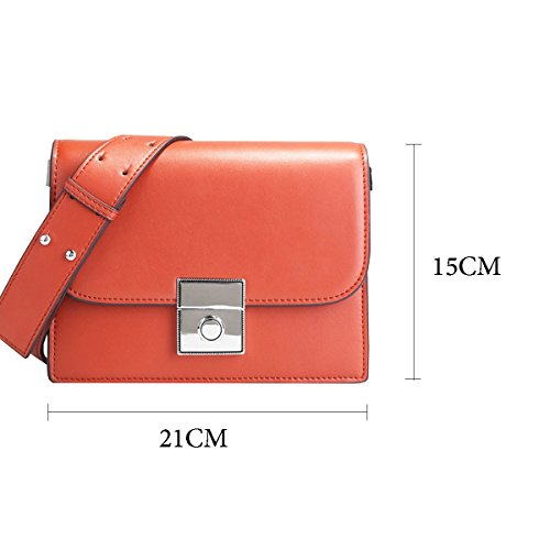 Diagonale Petit Bandoulière Sac Femme Sac Européen Nouveau Carré Américain En Cuir Simple Et En Main 2018 Leather HJLY Cuir Main Rouge Sauvage Brique à Sac Large Mode à zx8W7wv0