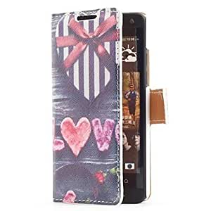 Heart Shape Gift Box Style Leather Case with Stand and Card Slot for HTC One Mini M4