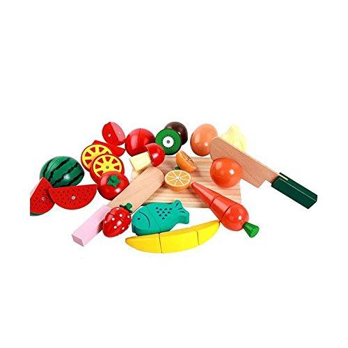 Wooden Fruit Vegetable Kitchen Toys Colorful Pretend Educational Food Toys for Kids 12 pcs/set