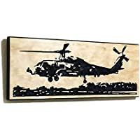 Helicopter Gifts For Pilots MH-60R Wall Art Carved Wooden Sign