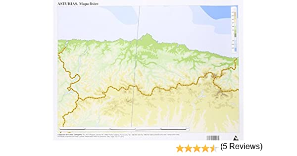 Mapa De Asturias Fisico.Mapa Fisico Asturias Mapas Mudos 50 Unidades Amazon Es