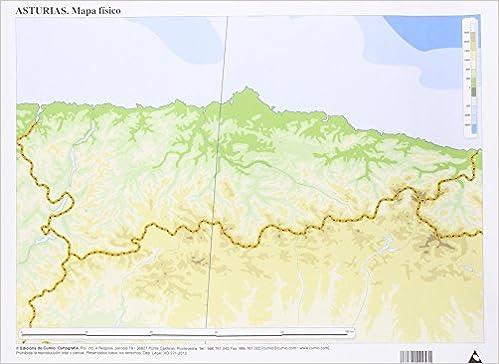 Mapa De Asturias Y Cantabria Juntos.Mapa Fisico Asturias Mapas Mudos 50 Unidades Amazon Es