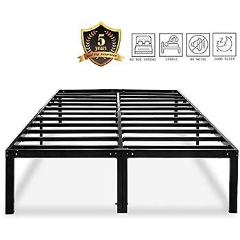 Amazon.com: HAAGEEP King Platform Bed Frame with Storage ...