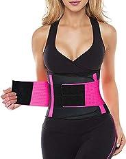 YIANNA Waist Trainer for Women, Slimming Sauna Waist Trimmer Belt Belly Band Sweat Sports Girdle Belt