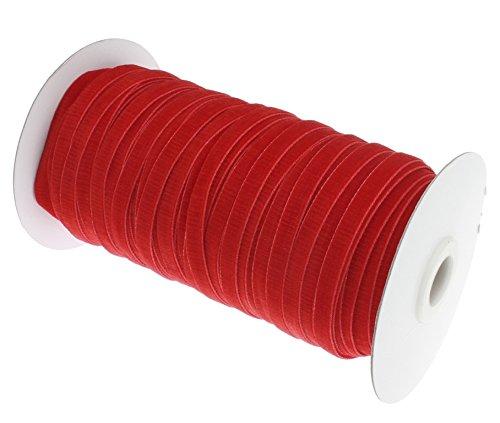 Perlin - 40 Meter Samtband Rot 6mm Samtborte Schmuckband Schleifenband Zierband Zierborte Borte Band Dekoband Bastelbedarf C190 x2