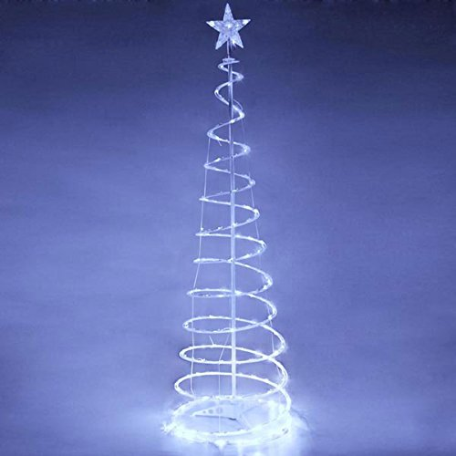 AMPERSAND SHOPS Outdoor Spiral LED Christmas Tree Light