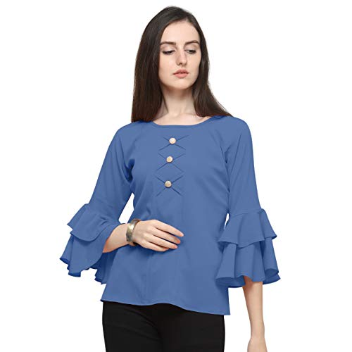 J B Fashion Plain Imported Fabric Women Top with Full Sleeves for Fancy top,Stylish top, Casual Wear Top for Women/Girls Top