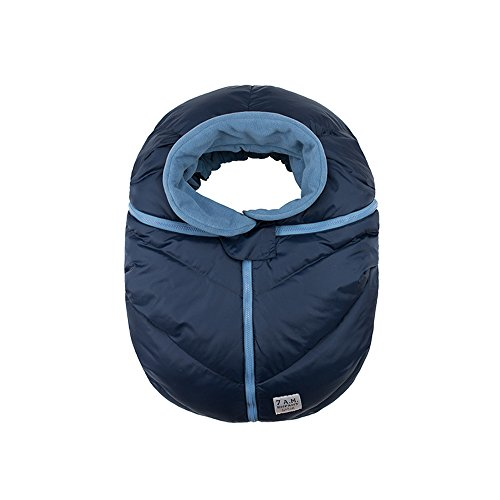 7AM Enfant Car Seat Cocoon, Wind and Water Resistant, Versatile, On-the-Go and Elasticized Car Seat Cover Micro-Fleece Lined (Midnight, One Size 0-12 months) by 7A.M. Enfant