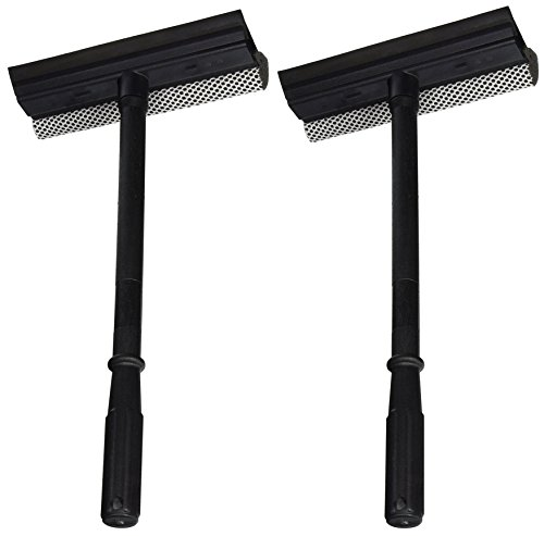 Black Duck Brand Set of 2 Window and Windshield Cleaning Sponge and Rubber Squeegee! ()