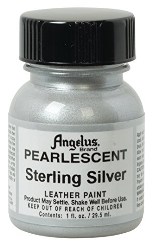 Angelus Pearlescent Leather Paint, 1 oz, Sterling Silver