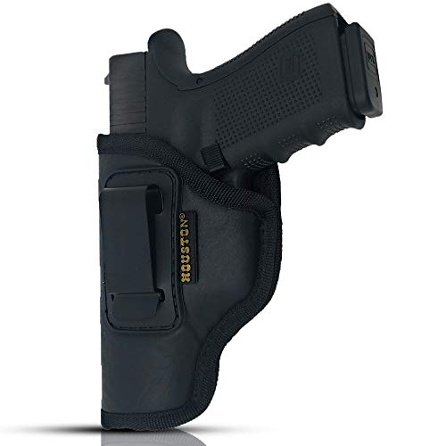 Houston IWB Gun Holster ECO Leather Concealed Carry Soft Material | Suede Interior for Maximum Protection | (Left) (CHP-57G-LH)
