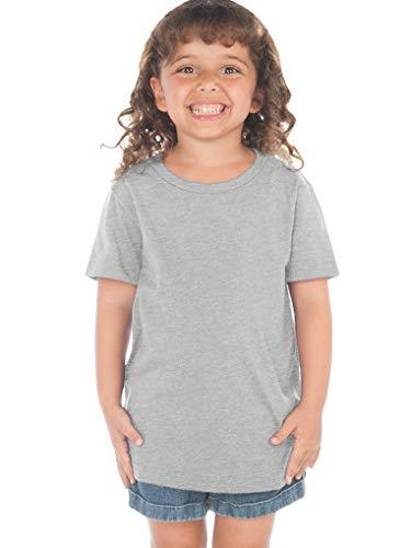 Kavio! Toddlers Crew Neck Short Sleeve Tee (Same TJP0494) Heather Gray 5T