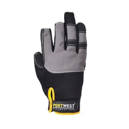 Portwest UA740BKRL Regular Fit Powertool Pro - High Performance Glove, Large, Black