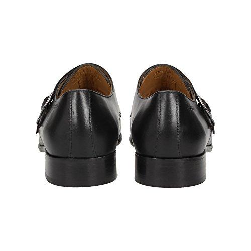 Zweigut -Hamburg- smuck #257 Schuhe Monkstrap Herren Double Monk-Strap Leder Schuh Business Shoe Slipper Schwarz