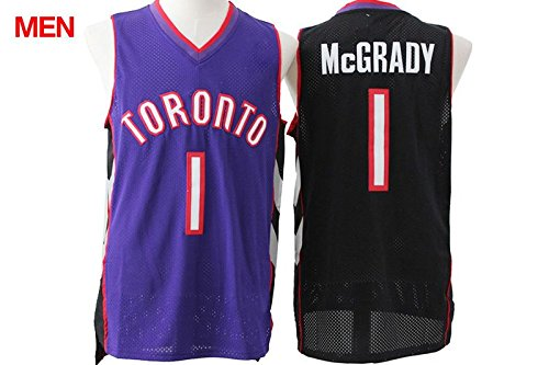 Mens Brand New Retro Jersey, Toronto Raptors #1 Tracy McGrady Black Purple S