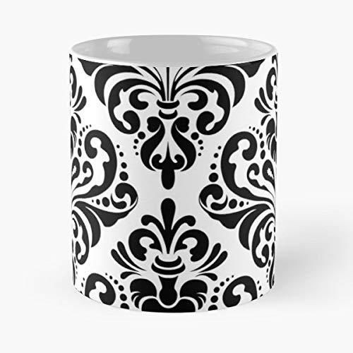 - Damask Pattern Seamless - Ceramic Mugs