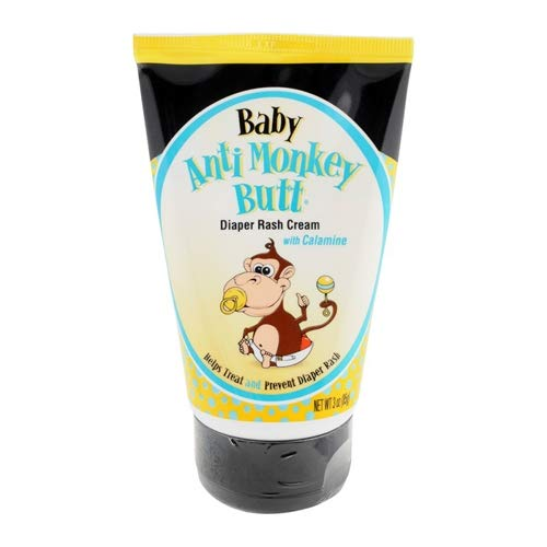 Anti Monkey Butt Diaper Rash Cream - 3 oz, (Pack of 6)
