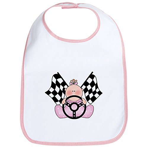 CafePress Lil Race Winner Baby Girl Bib Cute Cloth Baby Bib, Toddler Bib