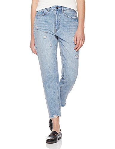 Lily Parker Women's High Waist Destroyed Ripped Boyfriend Jean