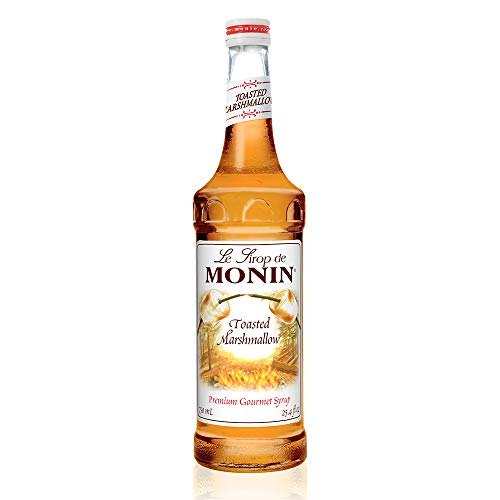 Monin - Toasted Marshmallow Syrup, Flavor of Campfire Treats, Natural Flavors, Great for Mochas, Shakes, Cocoas and Cocktails, Vegan, Non-GMO, Gluten-Free (750 ml)