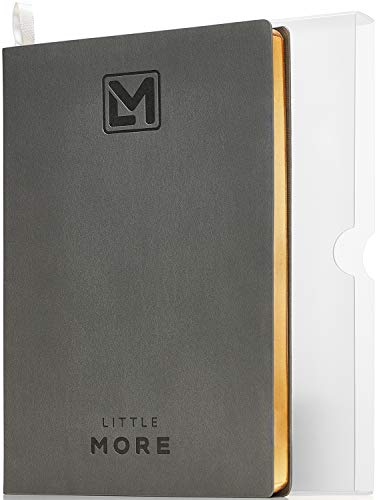 "Planner for Minimalists| Daily Agenda to Achieve Goals and Management of Your Schedule| Productivity Goal Planner for Work & Life Balance| A5 (5.5""x8.5"") Diary Notebook (Gray Gold)"