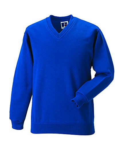 Russell Workwear - Sweat-shirt -  - Uni - Col V - Manches longues Homme Bleu French Navy Xx-large -  Bleu - Bleu marine - X-large