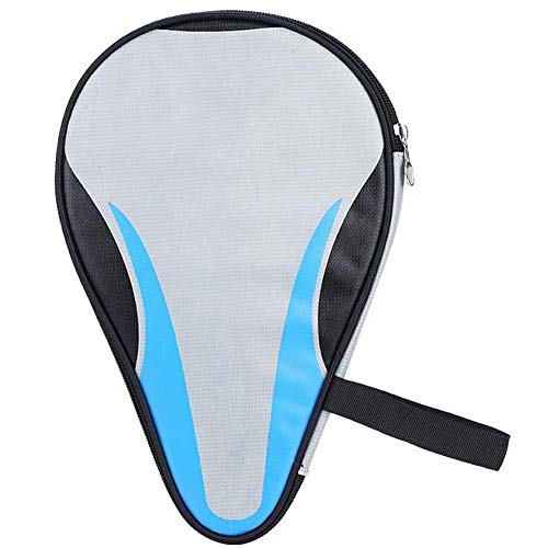 VGEBY Table Tennis Racket Case, Professional Ping Pong Paddle Cover Bat Bag Waterproof Dustproof Full Protection (Blue) (Table Tennis Paddle Cover)