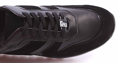 Scarpe Versace Uomo Made New Italy Pelle Sneakers Nera Canna Collection Fucile rapZr1q