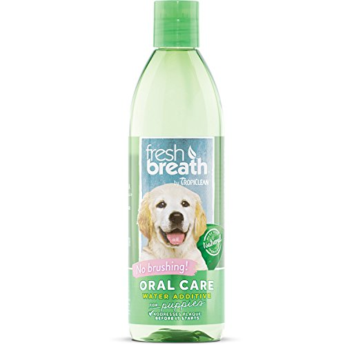 TropiClean Fresh Breath Oral Care Water Additive for Puppies, 16oz