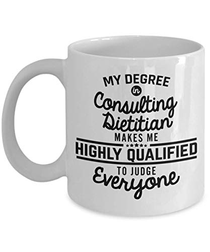 - Consulting Dietitian Coffee Mug - Dietitian Gifts - Registered Dietitian Funny 11 Oz Novelty Tea Cup - Men Women Coworker - Birthday Valentine Christm