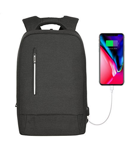 - YsinoBear Laptop Business Backpack Anti theft Multipurpose Water-resistant Rucksack with USB Charging Port fits 15.6'' Notebook Computer for College/Travel (Dark Grey)