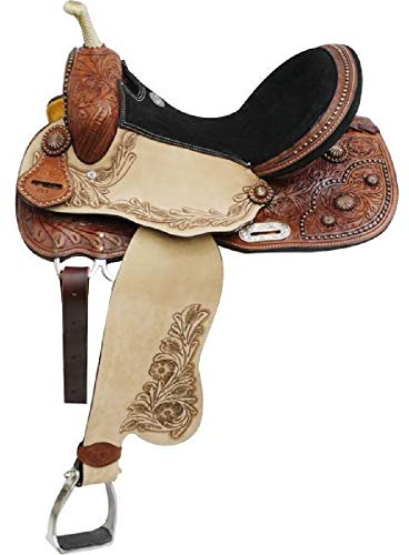 Double T Western Barrel Racing Saddle Copper Starburst Conchos 15