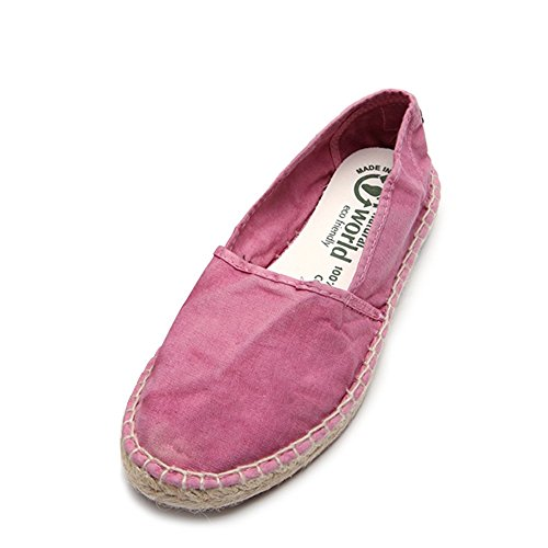Espadrille World Natural 37 Sneakers Women's 625E W Canvas SZ Rosa 1pqqwPxt