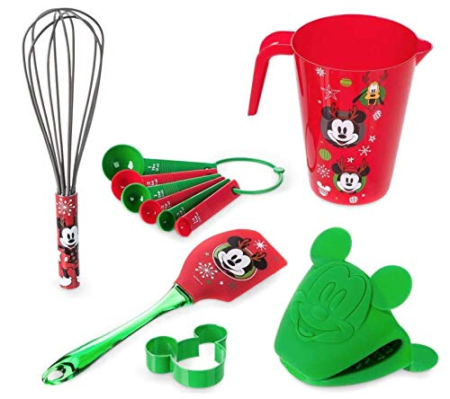 Childrens Holiday Baking Set Mickey and Friends Christmas Theme Gift Set by Disney