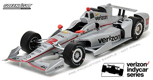 Greenlight 10999 Will Power 2017 Indycar #12 Penske Racing Verizon 1:18 Scale Diecast (Indy Green Car Light)